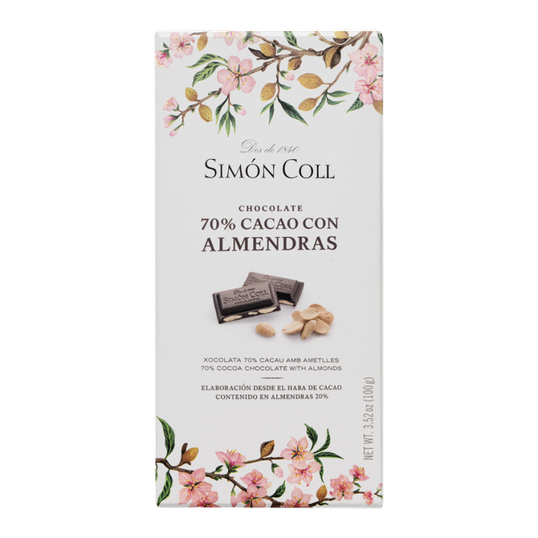 Chocolate 70% cocoa with laminated almonds 100g