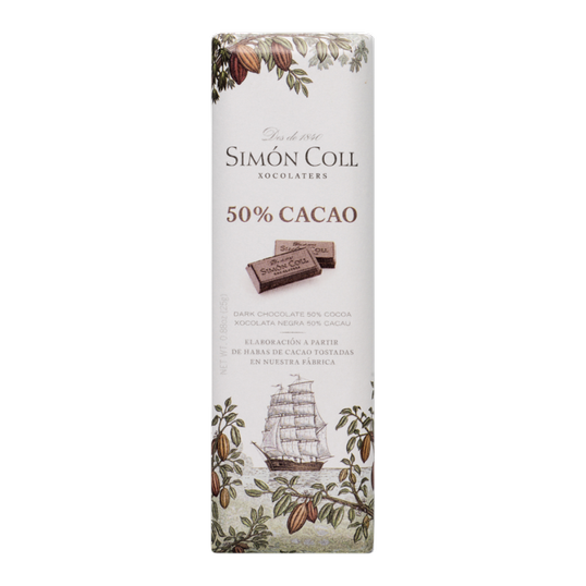 Chocolate 50% cocoa 25g