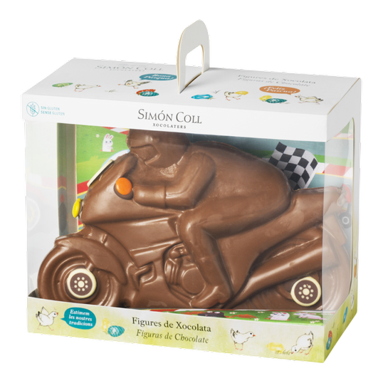Milk chocolate decorated Motorcycle box 413g
