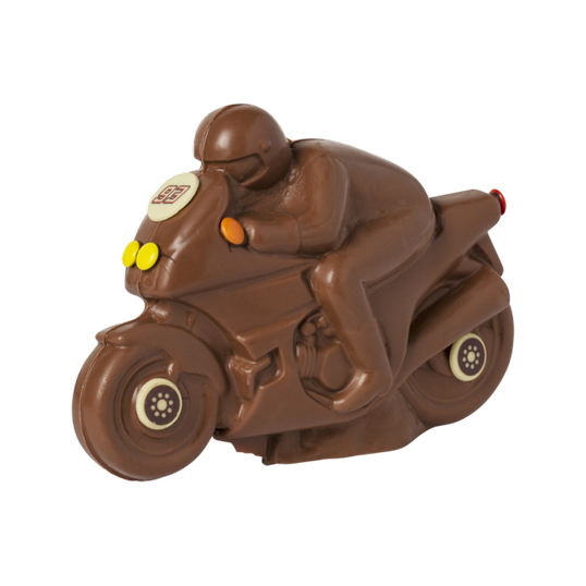 Milk chocolate decorated Motorcycle 420g