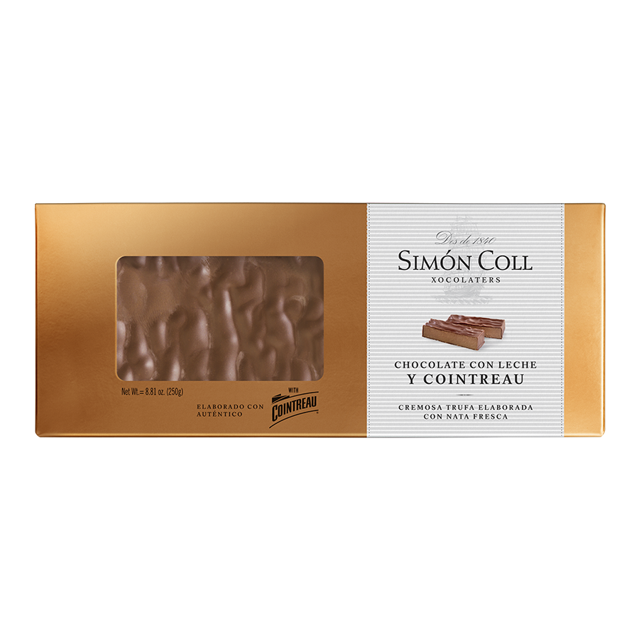 Turron Milk Chocolate with Cointreau 250g