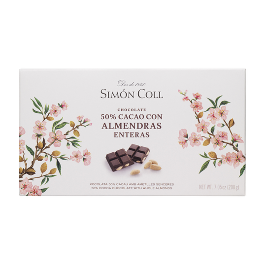 Chocolate 50% with whole almonds 200g