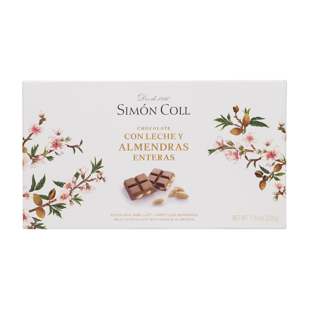 Milk chocolate with whole almonds 200g