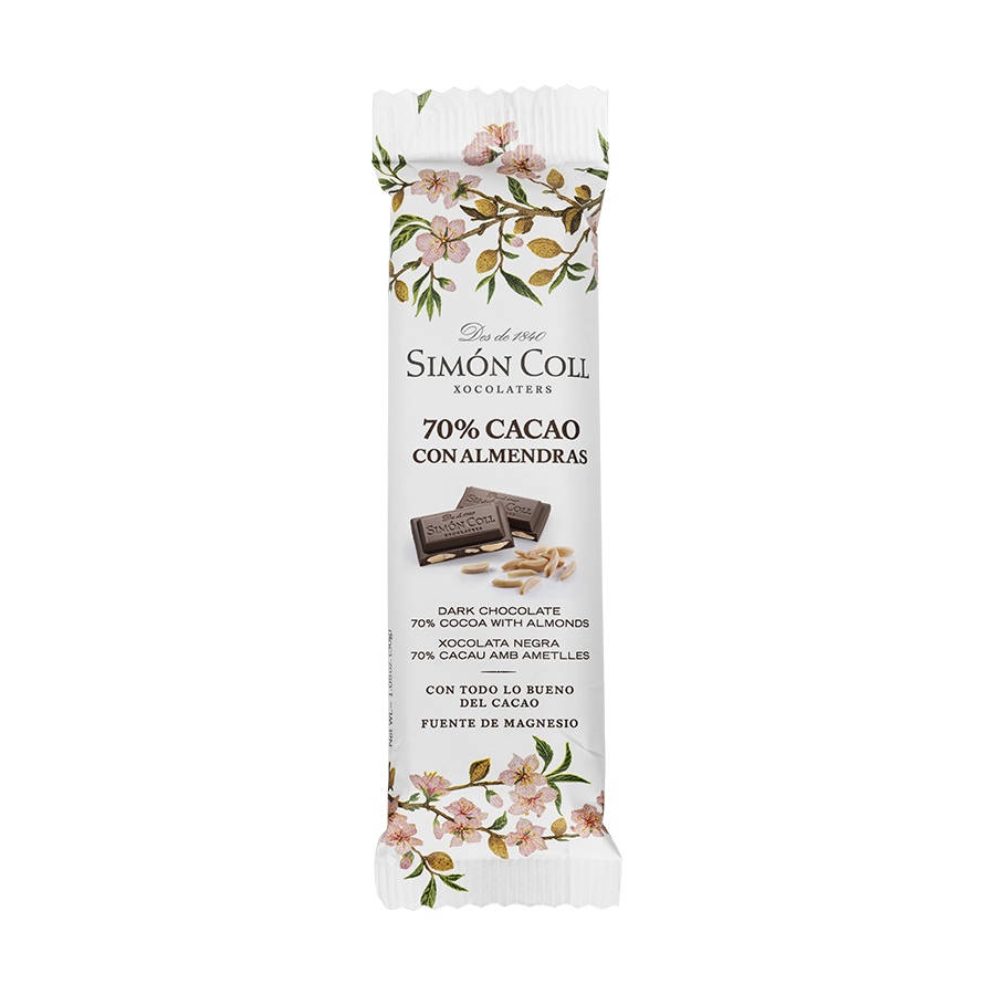 Chocolate 70% cocoa with almonds 30g