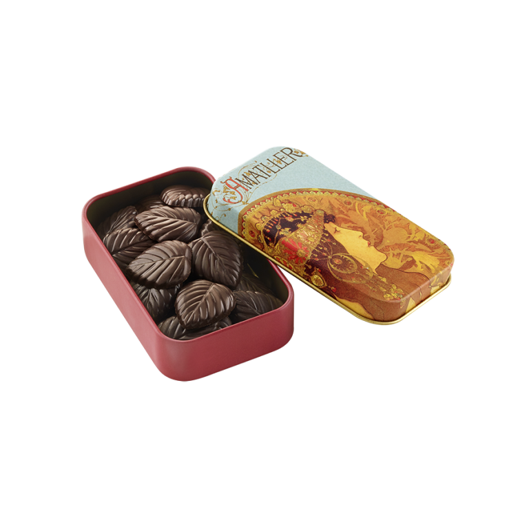 Chocolate 70% cocoa Leaves Tin 30g