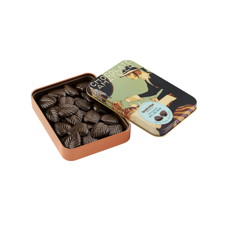 70% cocoa with salt Leaves Tin 60g